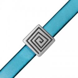 Μεταλλική Ζάμακ Χυτή Χάντρα Πλακέ Τετράγωνο (Ø10.2x2.2mm)