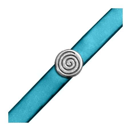Μεταλλική Ζάμακ Χυτή Χάντρα Πλακέ Στρογγυλό με Σπείρα 13mm