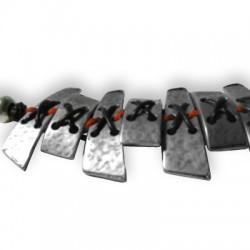 Petite Barre Arquée avec 4 Trous en Métal/Zamac, 10x20mm