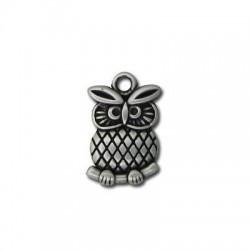 Zamak Charm Owl 19x14mm
