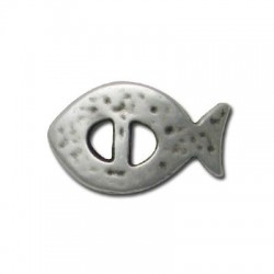 Zamak Slider Fish 28x17mm
