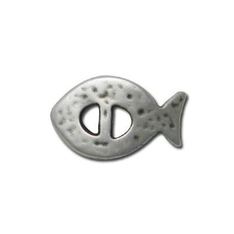 Μεταλλικό Ζάμακ Χυτό Ψάρι Περαστό 28x17mm