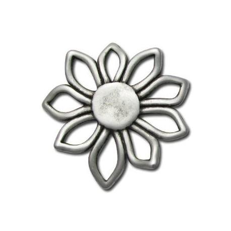 Pendentif Fleur en Métal/Zamac, 56mm