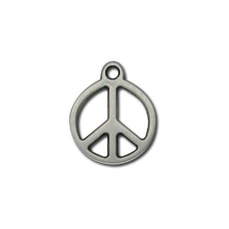 Μεταλλικό Ζάμακ Χυτό Μοτίφ Σήμα της Ειρήνης 20mm