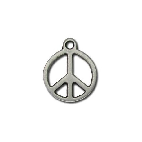 Zamak Charm Peace Sign 20mm
