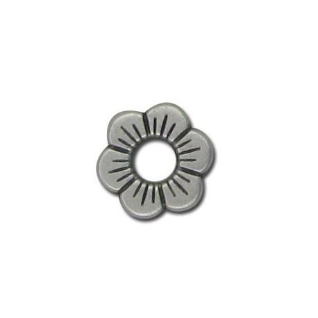 Μεταλλική Ζάμακ Χυτή Χάντρα Λουλούδι 12.5mm (Ø4.5mm)