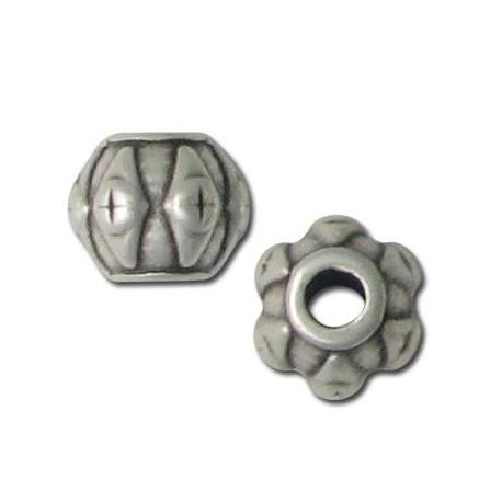 Perle à motif en Métal/Zamac, 9.5x8mm