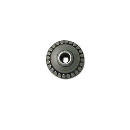 Perle à motif en Métal/Zamac, 11.7x10.2mm