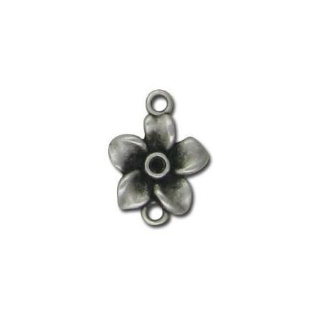 Intercalaire Fleur en Métal/Zamac,  2R 17x12mm