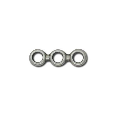Zamak Connector with 3 Rings 18.5x5.5mm