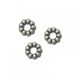 Zamak Slider Flower 11x3.2mm (Ø 4.1mm)