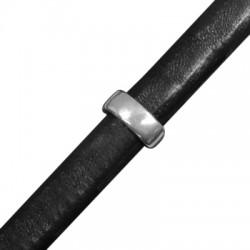 Anello in Zama Ovale Passante per Cuoio Regaliz 13mm