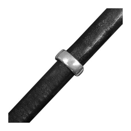 Μεταλλική Ζάμακ Χυτή Χάντρα Οβάλ Διαχωριστικό 13mm (για Δέρμα Regaliz)