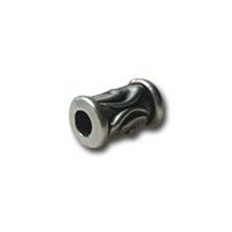 Μεταλλική Ζάμακ Χάντρα Σωληνάκι με Σχέδια 6.6x11mm(Ø3.3mm)