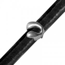 Μεταλλική Ζάμακ Χυτή Χάντρα Φίδι Περαστό 14x15,5mm (Ø 7x10mm) (για Δέρμα Regaliz)