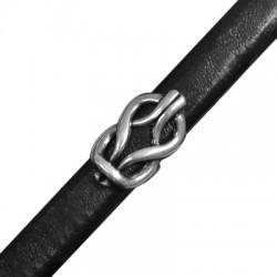 Zamak Slider Knot for Regaliz Leather 13x25mm (Ø 7x10mm)