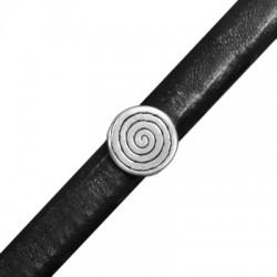 Zamak Slider Coil Round for Regaliz Leather 13mm (Ø 7x10mm)