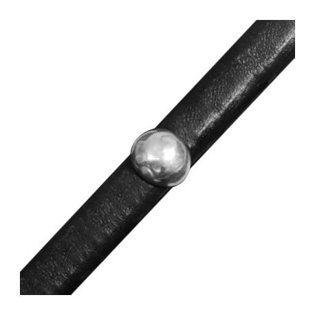Passant Demi-Boule en Métal/Zamac pour Cuir Regaliz, 11.3x12.4mm