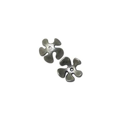Μεταλλική Ζάμακ Χυτή Χάντρα Καπελάκι Λουλούδι 15mm