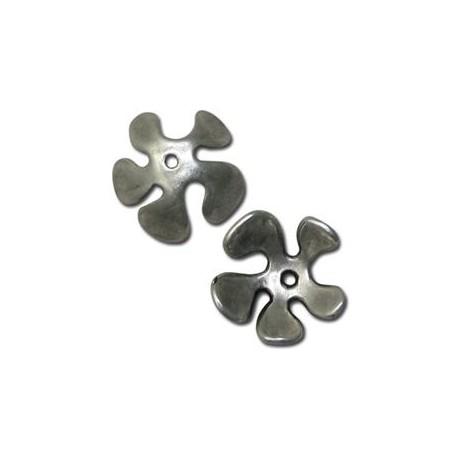 Coupelle Fleur en Métal/Zamac, 20mm