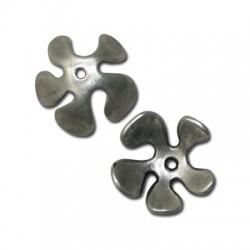 Coupelle Fleur en Métal/Zamac, 25mm