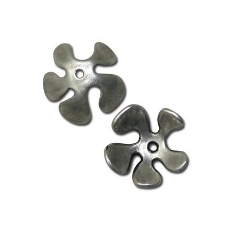 Μεταλλική Ζάμακ Χυτή Χάντρα Καπελάκι Λουλούδι 25mm