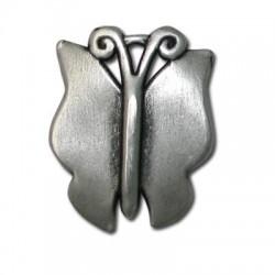Μεταλλικό Ζάμακ Χυτό Μοτίφ Πεταλούδα 27x32mm