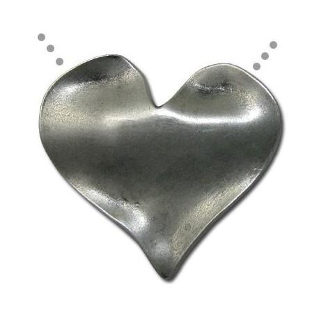Μεταλλικό Ζάμακ Χυτό Μοτίφ Καρδιά Κυματιστή 52x26.5mm