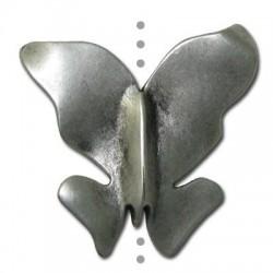 Passant Papillon en Métal/Zamac, 40x35mm