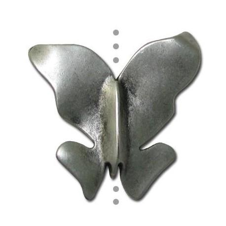 Μεταλλικό Ζάμακ Στοιχείο Πεταλούδα Περαστό 40x35mm (Ø2.4mm)