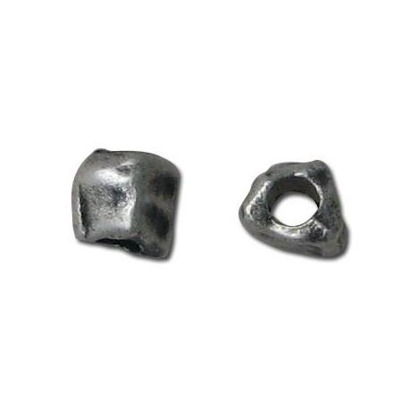 Μεταλλική Ζάμακ Χυτή Χάντρα Κύβος Ακανόνιστος 7x6mm (Ø3.1mm)