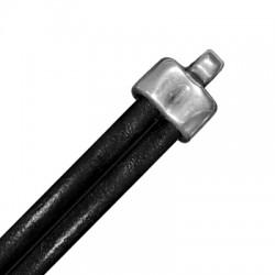 Embout en Métal/Zamac, 13x15mm (Ø 5.5mm par trou)
