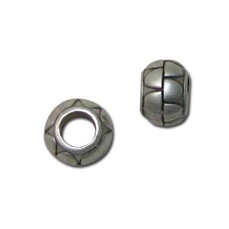 Μεταλλική Ζάμακ Χυτή Χάντρα Στρογγυλή 12mm (Ø5.7mm)