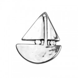 Zamak Pendant Boat 50x43mm