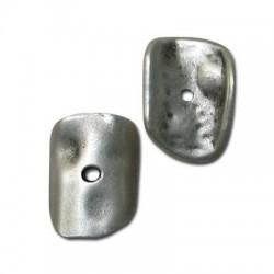 Disque Irrégulier en Métal/Zamac, 15x22mm