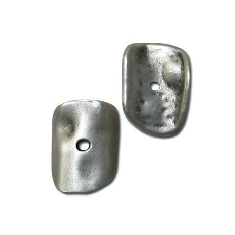Μεταλλικό Ζάμακ Στοιχείο Δίσκος Κυρτός Ακανόνιστος 15x22mm
