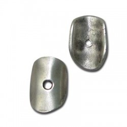 Zamak Irregular Disc Curved 11x16mm