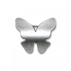 Pendentif Papillon en Métal/Zamac, 40x35mm