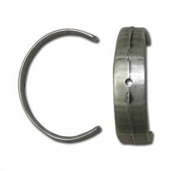 Demi-anneau avec 3 Trous en Métal/Zamac, 33x23mm