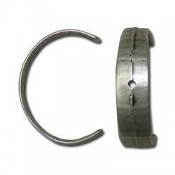 Μεταλλικό Ζάμακ Χυτό Στοιχείο Μισός Κρίκος 33x23mm(Ø1.5mm)