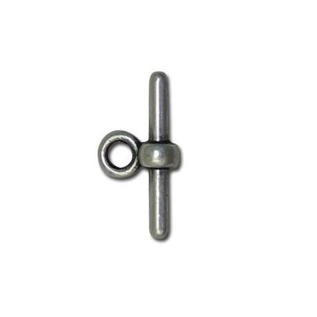 Μεταλλικό Ζάμακ Χυτό Κούμπωμα Μπάρα για Κορδόνι 2mm 18x2.1mm