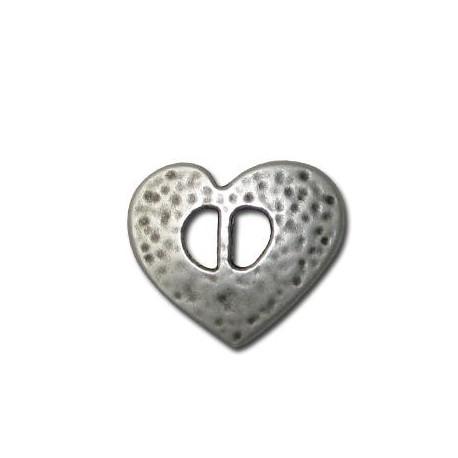 Zamak Slider Heart 26mm (Ø 6mm)
