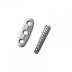 Μεταλλικό Ζάμακ Στοιχείο Διαχωριστικό Τριπλό 6x18mm (Ø2.7mm)