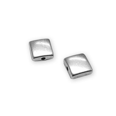 Passant Cube Plat en Métal/Zamac, 12mm