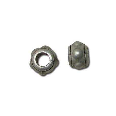 Μεταλλική Ζάμακ Χυτή Χάντρα Ροδέλα Στρογγυλή 6x8mm (Ø3.8mm)
