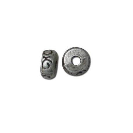 Μεταλλική Ζάμακ Χυτή Χάντρα Ροδέλα 4x8mm (Ø2.5mm)