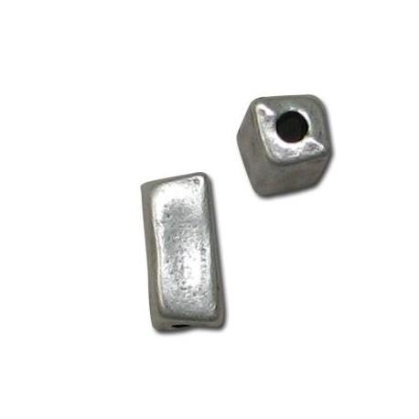 Μεταλλική Ζάμακ Χάντρα Σωλήνας Τετράγωνος 7x12mm (Ø2.1mm)