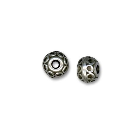 Μεταλλική Ζάμακ Χάντρα Στρογγυλή με Σχέδια 11mm (Ø3.2mm)