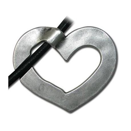 Μεταλλικό Ζάμακ Χυτό Μοτίφ Καρδιά 50x40mm