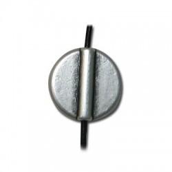 Μεταλλική Ζάμακ Χυτή Χάντρα Στρογγυλή Επίπεδη 17mm (Ø1.8mm)